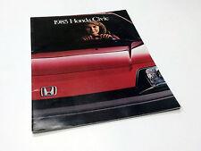 1985 Honda Civic DX S CRX HF Hatchback Sedan Brochure