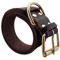 Verstellbarer Hundehalsband Leder Braun Rot Hund Halsband Lederhalsband XS-XXL