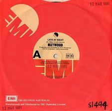 "MAYWOOD - LATE AT NIGHT - RARE 7"" 45 VINYL RECORD - 1980"