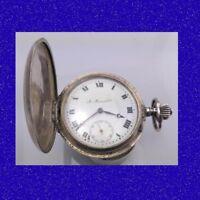 Stunning Silver Swiss A. Moser 23 jewel Rail Road 20 S  Hunter Pocket Watch 1900