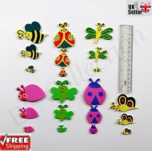 50X Craft Stickers Foam Bugs Self Adhesive Colourful Gift Pack For Boys Girls UK