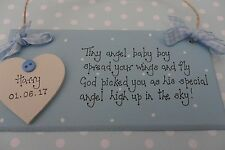 Personalised baby girl boy memorial loss of baby stillborn plaque sign keepsake