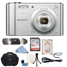 Sony Cyber-shot DSC-W800 20.1MP Digital Camera 5x Optical Zoom Silver BUNDLE !