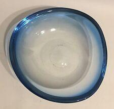 MURANO VETRO XL Guscio Design 50er 60er anni Bowl AQUA BLUE BLU ACQUA 50s 60s