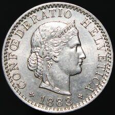 1883 | Switzerland 20 Rappen | Nickel | Coins | KM Coins