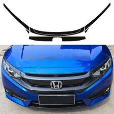 Carbon fiber Type R Style Front Grille SticKer Decal Kit for Honda Civic 16-17
