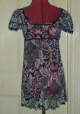 Per Una size 10 black/white crinkle lace short sleeve baby doll style mini dress