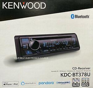NEW Kenwood KDC-BT378U Single DIN, Bluetooth, CD/AM/FM, Car Stereo Receiver