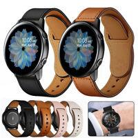 Ersatz-Armband Echtem Leder Band für Samsung Galaxy Watch Active 2 40 44mm/42 46