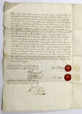 1749 - A manuscript agreement, George Walton of Little Burstead, Essex.