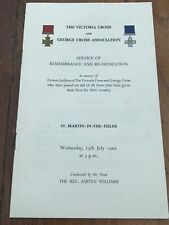 More details for the victoria cross & george cross association service of remembrance 1966