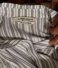 MARINA RINALDI TAGLIA 17 (46) camicia donna polsini righe cotone