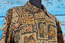 Chico's Women's Button Jacket Sz 3 Textured Embroidered Patchwork Colorful XL
