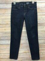 Uniqlo Womens Jeans Skinny Slim Fit Dark Wash Stretch Cotton Denim Sz 27 Ankle