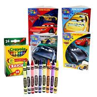 4 Disney Pixar Cars Mcqueen Jumbo Coloring Activity Books, for Children + BONUS
