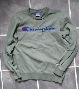 Mens champion  green jumper retro  small