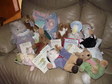 9 VTG EDEN BEATRIX POTTER PLUSH 7 Books LOT PIG WIG Squirrel Duck Frog MORE!!