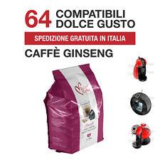 64 Capsule Caffè al Ginseng Italian Coffee compatibili Nescafé Dolce Gusto