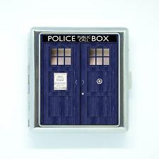 etui a cigarette DR WHO serie tv blue box police boite porte carte de poche
