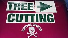 Signo de advertencia de corte de árbol Pegatinas De Vinilo De Gráficos Calcomanías