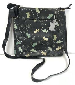 "Genuine Radley Leather Handbag Multi Dog Print Pattern 26 x 26cm 10""x10"""