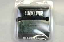 BLACKHAWK TACTICAL RETENTION PISTOL LANYARD $19 BLACK NEW IN PACKAGE