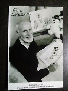 PAUL COKER JR Authentic Hand Signed Autograph 4X6 Photo - FROSTY THE SNOWMAN