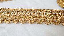 2cm- 1 metre Gorgeous metallic gold sequins lace trim edging DIY decor arts