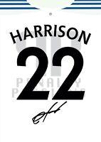 JACK HARRISON Signed LEEDS UNITED Poster Printed Photo Autograph Shirt Gift