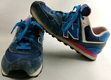 New Balance 574 - Size 9.5 - Blue / Pink - WL574MOY Women's Sneakers Shoes