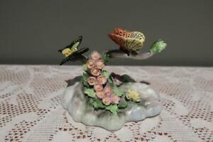 Adderley England Vintage Figurine - Butterflies On Branch - Collectable - Vgc