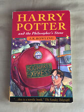 HARRY POTTER and the PHILOSOPHER'S STONE P/B BOOK 1997 First Ed. Joanne Rowling