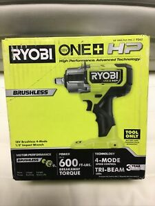 New Ryobi One HP 18V P262 Brushless Cordless Impact Wrench(TOOL ONLY)