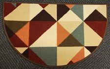 """TEXTILE KITCHEN RUG (nonskid back) (18"""" x 31"""") MULTICOLOR TRIANGLES, slice, WW"""