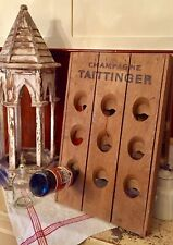 Rare Vintage French Wine Bottle Riddling Rack