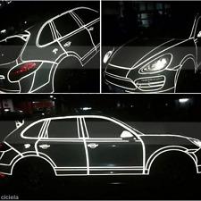 5m White Reflective Dark Warning Stripe Car Self-Adhesive Tape Sticker Decals