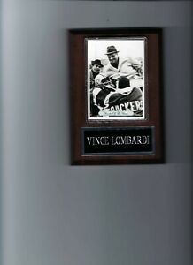 VINCE LOMBARDI PLAQUE GREEN BAY PACKERS FOOTBALL NFL   C