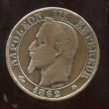5 CENTIMES NAPOLEON III 1862 A   ( TB + )