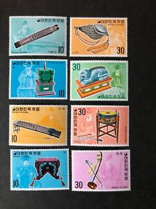 MNH 1974 Traditional instruments x 4 sets/series  Between Sg 1089-1133