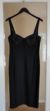 DKNY Size 12 Black Bra Top Dress Satin Trim Gorgeous Sexy Neiman Marcus New!