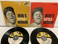 """Lot of 2 records 7"""" 45 RPM EP Here's LITTLE RICHARD - SPECIALTY  SEP 401 and 402"""