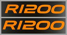 ADESIVI STICKERS SERBATOIO ARANCIONI BMW R1200 GS ADVENTURE ADV dim.20,8x3cm