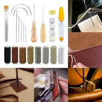 Upholstery Sail Carpet Leather Canvas  Repair Curved Hand Sewing Needles Kit