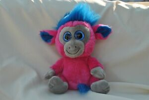 Pink / blue / grey Monkey ~ Moonlings - Keel toys - No ID tag - 26cms approx