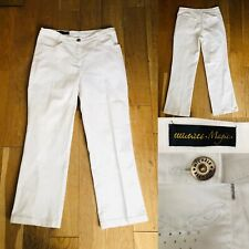 MICHELE MAGIC White Straight Leg Jeans Size 16 Fly/Pockets £99 Worn Once Immacul