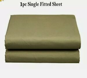 1500 Thread Count Single Fitted, and Flat  Sheet Available in 10 Colors All Size
