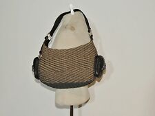 Brighton Woven Rope Purse w Leather Trim / Dust Bag MINT