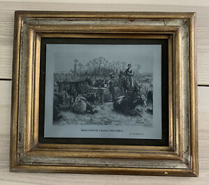 Frederic Remington TEXAN CATTLE IN A KANSAS limited edition Hand carved Intaglio