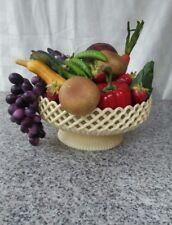vintage faux fruit and veg retro plastic serving bowl neat mid-century decor