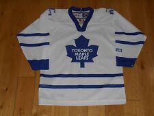 Vintage 90s CCM Air Knit White TORONTO MAPLE LEAFS Child NHL Team Replica JERSEY